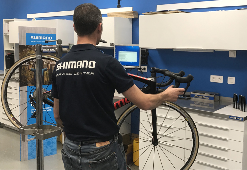 Contrôle règlage vélo transmission Shimano