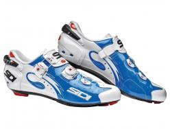 Chaussures Route SIDI Wire Carbon Bleu Blanc verni