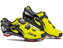 Chaussures SIDI Drako Carbon Noir Jaune fluo verni