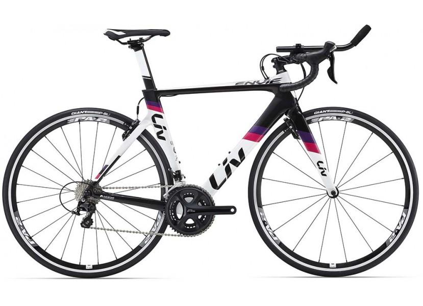 c1a46394e38 Vélo de course LIV Envie Advanced TRI 2 Blanc Noir Rose - Wareega