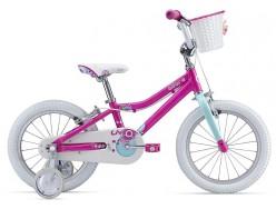 Vélo enfant VTT Enfant LIV Adore 16 Rose Blanc