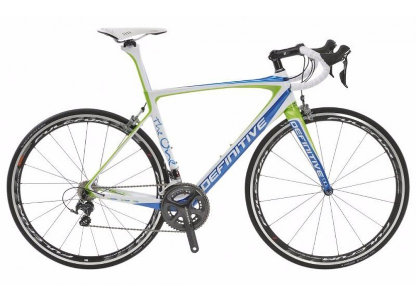 Vélo de course DEFINITIVE The One ISP Ultegra Di2 Bleu Vert Blanc
