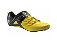Chaussures Route MAVIC Cosmic Ultimate Jaune Noir