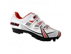 Chaussures VTT DMT Marathon 2.0 Blanc Rouge Noir