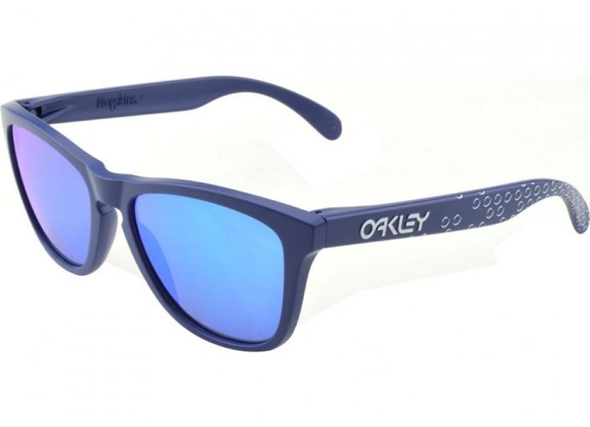 5cc770c073 Lunettes OAKLEY Frogskins Mat Blue - Sapphire Iridium - Wareega