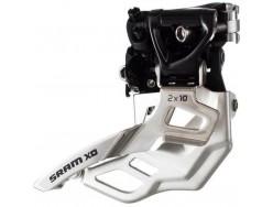 Dérailleur avant VTT SRAM X0 2x10v Collier Haut 34,9mm Tirage Haut