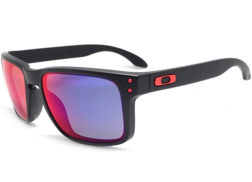 45f8eb8ea3 Lunettes OAKLEY Holbrook Matte Black Red Iridium Limited Edition -
