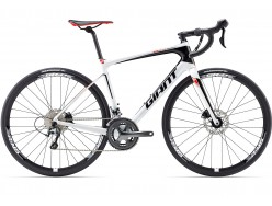 Vélo de course GIANT Defy Advanced 3 Blanc Rouge