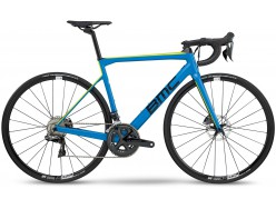 Vélo de course BMC Teammachine SLR02 Disc One Bleu Noir Jaune