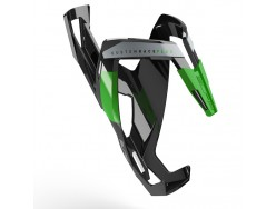 Porte bidon ELITE Custom Race+ Noir brillant Vert graphic