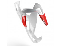 Porte bidon ELITE Custom Race+ Blanc brillant Rouge graphic