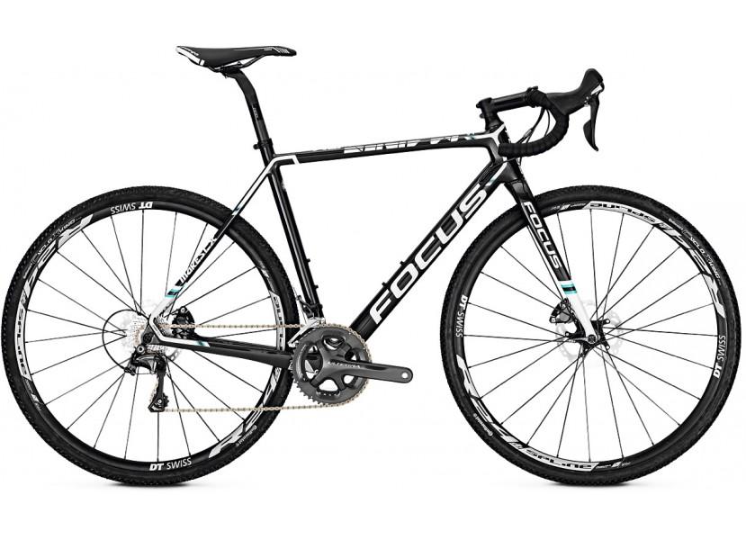 Vélo de cyclocross FOCUS Mares Ultegra Carbon Blanc Bleu