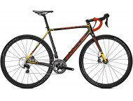 Vélo de cyclocross FOCUS Mares 105 Noir Rouge Orange