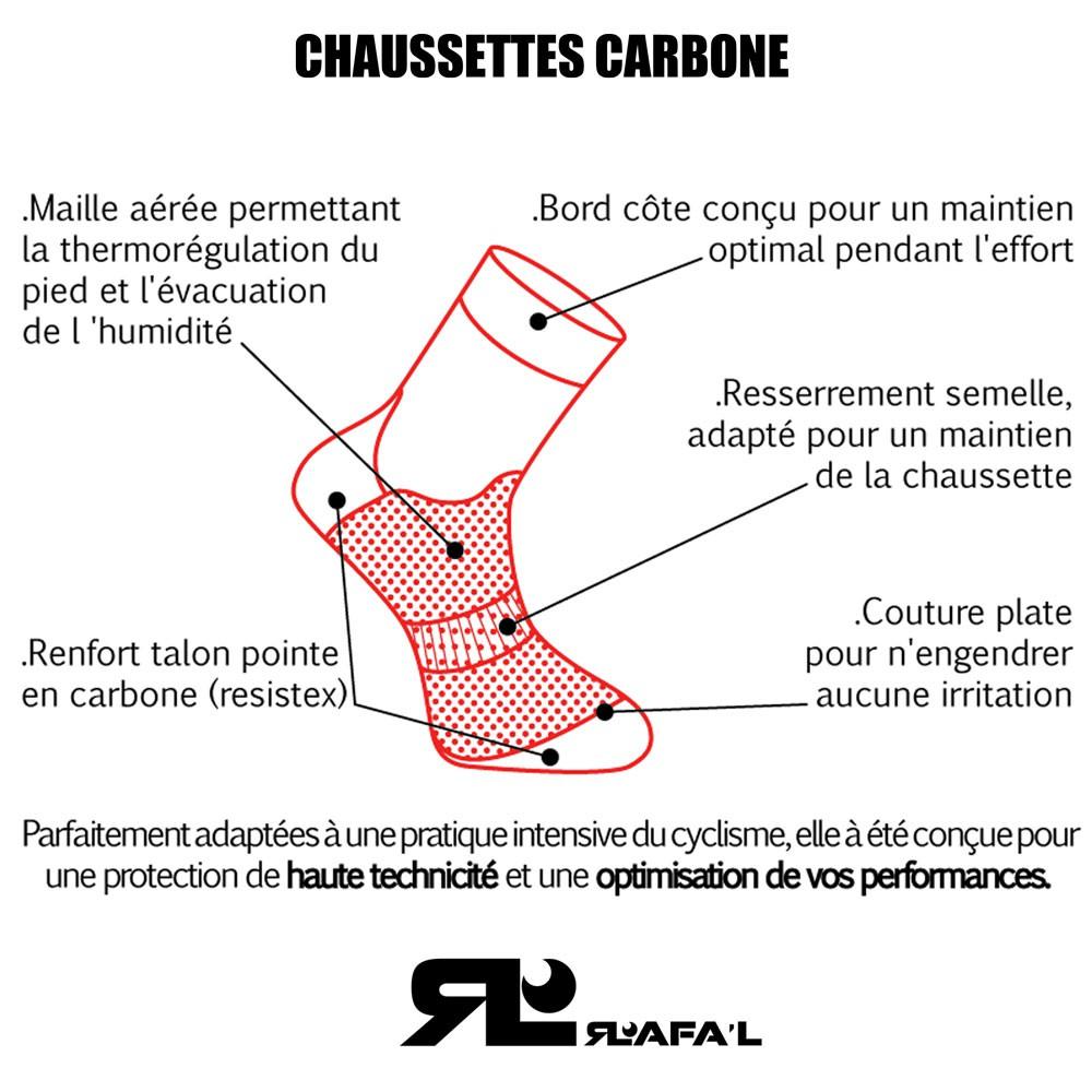 Rafal Attack Chaussettes v/élo Mixte Adulte