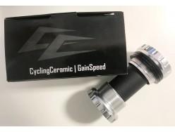 Boitier de pédalier CYCLINGCERAMIC VTT BSA Shimano/FSA/Rotor Argent