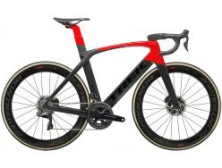 Vélo de course TREK Madone SLR 9 Disc Noir mat Rouge
