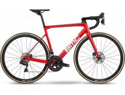 Vélo de course BMC Teammachine SLR01 Disc Three Rouge Blanc Carbon