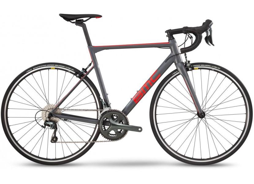 Vélo de course BMC Teammachine ALR01 Two Gris Rouge Noir