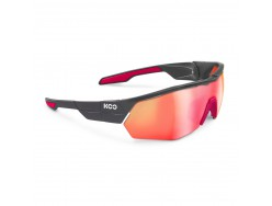 Lunettes Route KASK KOO Open Cube Anthracite mat Blanc 0
