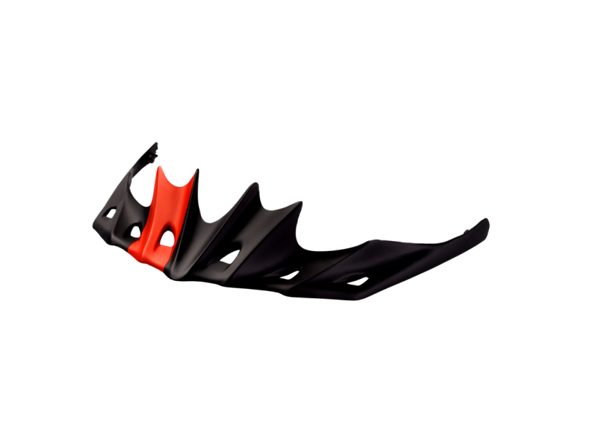 Visière de casque CATLIKE Whisper Noir Rouge mat 0