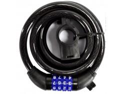 Antivol OXUS spirale à chiffres 12mm x 1,8m avec support