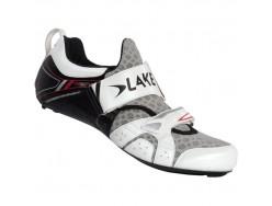 Chaussures Route LAKE TX222 Blanc Noir