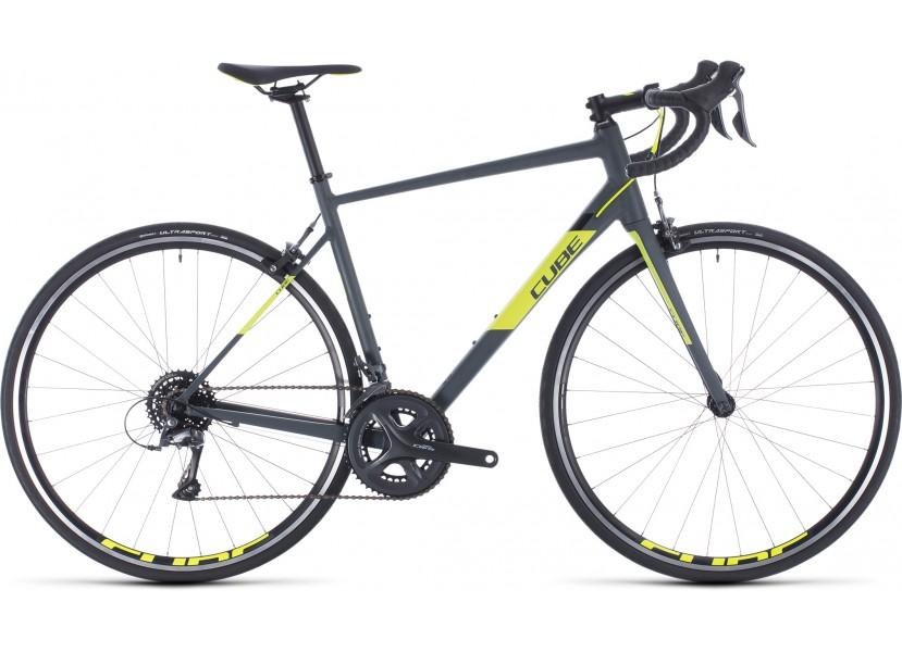 Vélo de course CUBE Attain grey´n´flashyellow