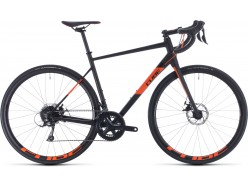 Vélo de course CUBE Attain Pro black´n´orange