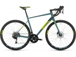 Vélo de course CUBE Attain SL bluegrey´n´green