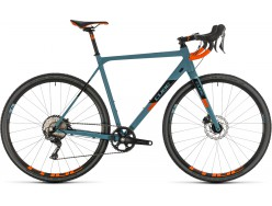Vélo de cyclocross CUBE Cross Race SL bluegrey´n´orange