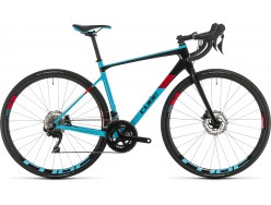 Vélo de course CUBE Axial WS GTC Pro lightblue´n´red