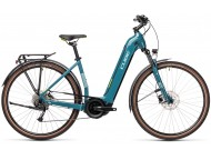 VTC électrique CUBE Touring Hybrid One 500 blue´n´green Easy Entry