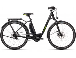 VTC électrique CUBE Town Hybrid One 400 black´n´green Easy Entry