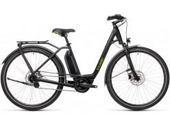 VTC électrique CUBE Town Hybrid One 500 black´n´green Easy Entry