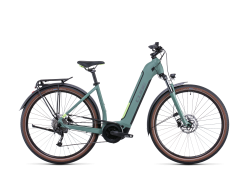 VTC électrique CUBE Touring Hybrid ONE 500Wh green´n´sharpgreen Easy Entry