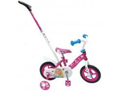 Vélo enfant Enfant BARBIE Rose 10 pouces avec Canne